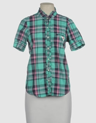 Franklin And Marshall Short Sleeve Shirts Turquoise