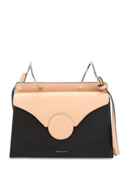 Danse Lente Phoebe Leather Shoulder Bag Black Nude
