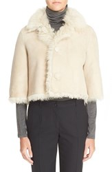 Women's Red Valentino Reversible Genuine Shearling Capelet