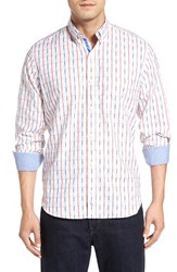 Tailorbyrd Men's 'Carpathian' Plaid Woven Sport Shirt White