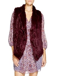 Joie Andoni Knitted Rabbit Fur Vest Bloomingdale's Exclusive Shiraz