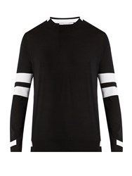 Givenchy Contrast Panel Striped Sweater Black
