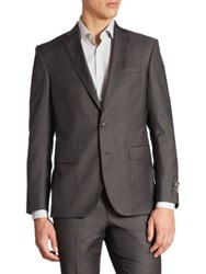 Saks Fifth Avenue Basic Ford Wool Suit Jacket Charcoal