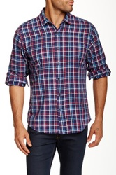 Toscano Plaid Long Sleeve Regular Fit Shirt Blue