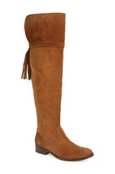Frye Molly Tassel Over The Knee Boot Brown