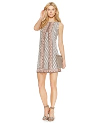 Studio M Sleeveless Geo Print Shift Dress