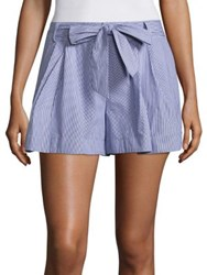 Parker Striped Bow Shorts Powder Blue