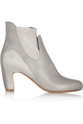 Maison Martin Margiela Leather And Suede Ankle Boots