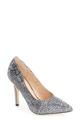 Pink Paradox London Women's 'Alexis' Pointy Toe Pump Pewter