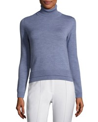 Adam By Adam Lippes Double Face Wool Turtleneck Sweater Light Blue