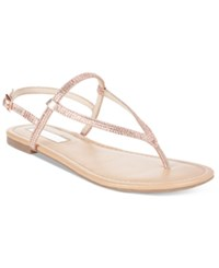 Inc International Concepts Women's Macawi Embellished Flat Sandals Only At Macy's Women's Shoes Rose Pearl