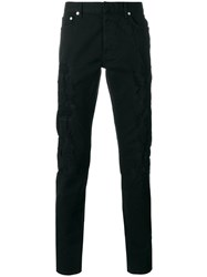 Christian Dior Homme Destroyed Slim Fit Jeans Black