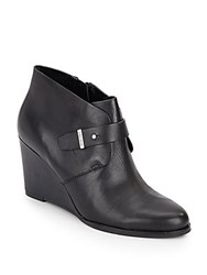 Cole Haan Rand Leather Wedge Booties Black