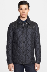 Burberry 'Kenley' Diamond Quilted Jacket Black