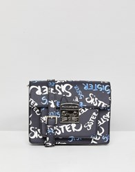 Paul And Joe Sister Graffiti Cross Body Bag Black