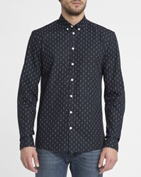 Minimum Blue Crosstown Arrow Pattern Shirt