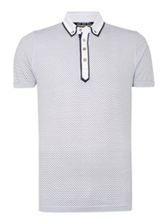 Duck And Cover Print Polo Shirt White