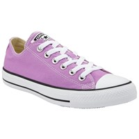 Converse Chuck Taylor All Star Canvas Ox Low Top Trainers Fuchsia Glow