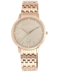 Vince Camuto Men's Rose Gold Tone Stainless Steel Bracelet Watch 40Mm Vc 1074Lrrg