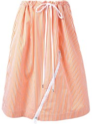 Jil Sander Striped Skirt Yellow And Orange