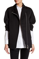 Opening Ceremony Claire Moto Coat Black