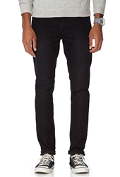 Forever 21 Slim Fit Faded Dark Wash Black