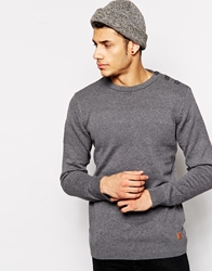 Solid Solid Textured Knitted Jumper Lightgrey