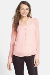 Frenchi Long Sleeve Top Juniors Pink
