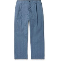 Craig Green Tapered Quilted Cotton Canvas Trousers Blue