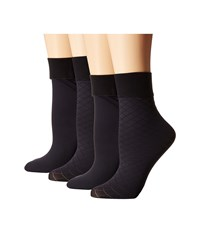 Cole Haan 2 Pack Textured Anklet Navy Women's Crew Cut Socks Shoes