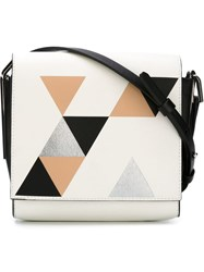 Desa 1972 Geometric Print Cross Body Bag Metallic