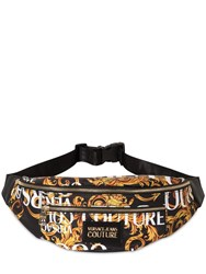 Versace Baroque Print Nylon Belt Bag Black