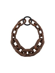 Simon Miller Marbled Chain Necklace Brown