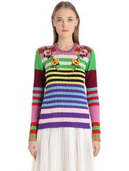 Gucci Embroidered Cashmere And Wool Sweater