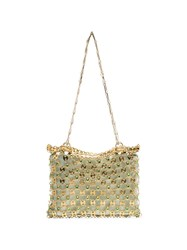 Paco Rabanne Gold And Green Flash 1969 Chain Cross Body Bag Metallic