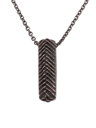 Tobias Wistisen Braided Ring Necklace Metallic