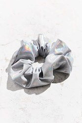 Urban Outfitters Holographic Scrunchie Silver