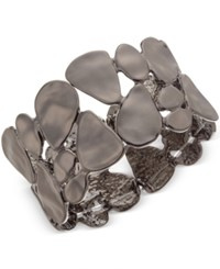 Styleandco. Style And Co. Hematite Tone Pebble Stretch Bracelet Only At Macy's