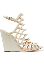 Schutz Leather Sandals Off White
