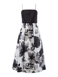 Js Collections Mikado Halter Dress Black White