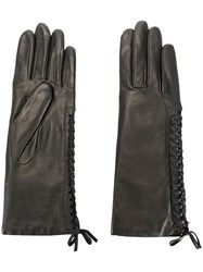 Agnelle Gloves With Lace Detail Black
