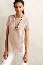 Moth Madeira Eyelet Back Pullover Light Mauve
