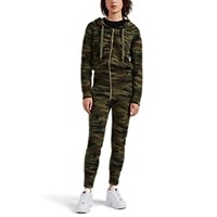 Nsf Stacie Camouflage Cotton Jumpsuit Green