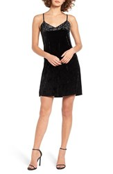Socialite Women's Crushed Velvet Camisole Swing Dress