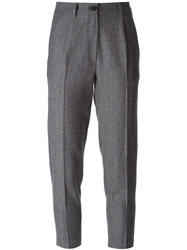 Erika Cavallini Semi Couture Herringbone Trousers Blue