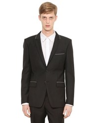 Givenchy Chain Trimmed Wool And Mohair Blend Jacket