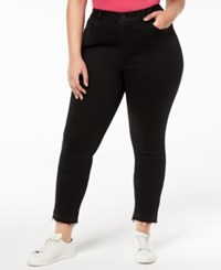 William Rast Plus Size Skinny Jeans Black