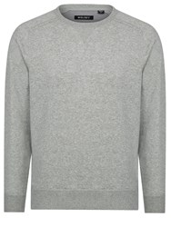 Wolsey Brushed Plain Crew Neck Pull Over Jumpers Grey Marl