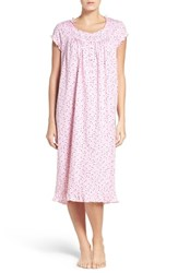 Eileen West Women's Cotton Waltz Nightgown Light Pink Multi Hearts