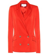 Galvan Double Breasted Satin Blazer Red